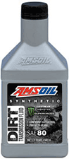 Amsoil SAE 80 synthetic dirt bike transmission fluid