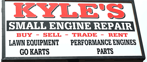 Amsoil synthetic oil at Kyle's small engine repair Haltom City TX