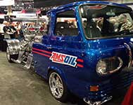 Amsoil blue ford at SEMA Show
