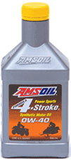 Amsoil synthetic 0W-40 4-stroke motor oil