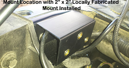 dodge cummins by oil filter mount in place